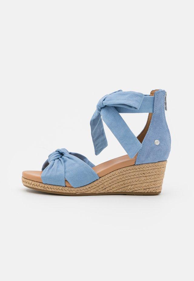 YARROW - Sandały na platformie - blue