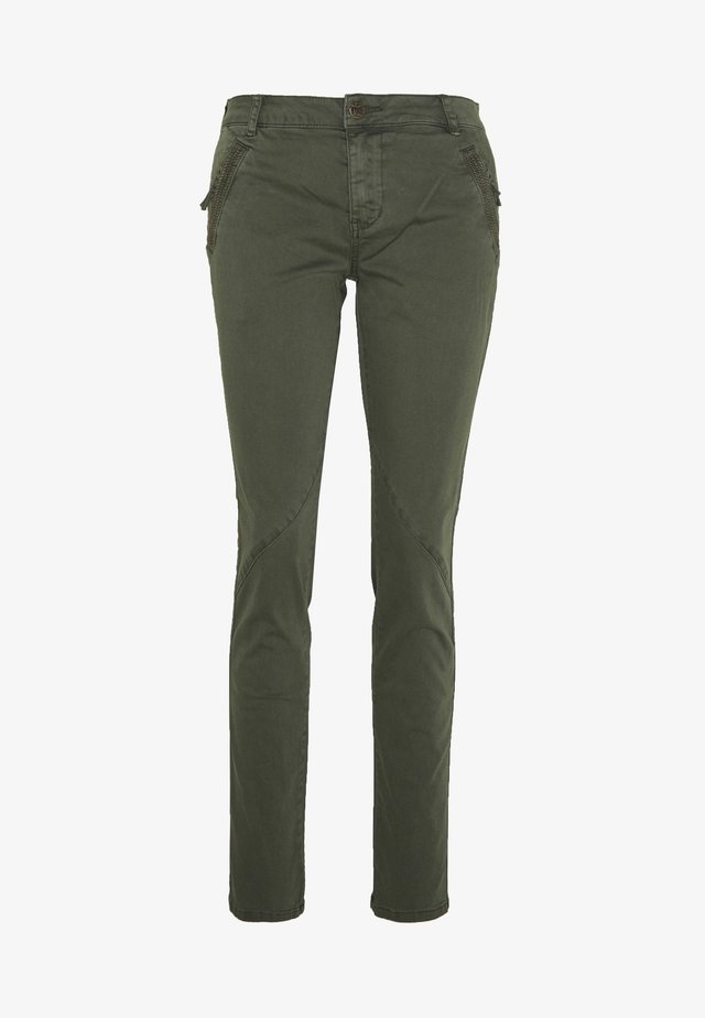 CUALBA PANTS - Bukse - olive night