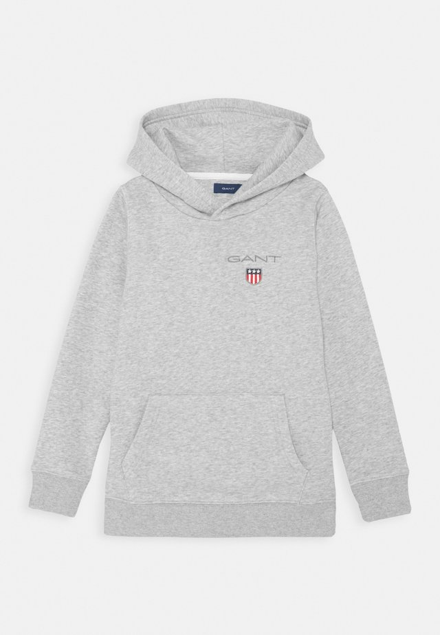 MEDIUM SHIELD HOODIE UNISEX - Hoodie - light grey melange