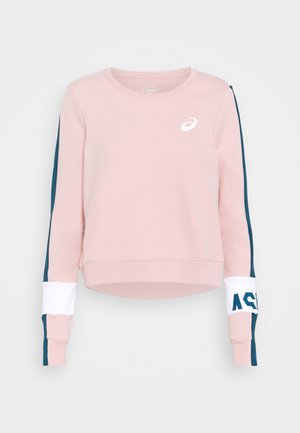 COLORBLOCK CREW - Sweatshirts - ginger peach/magnetic blue