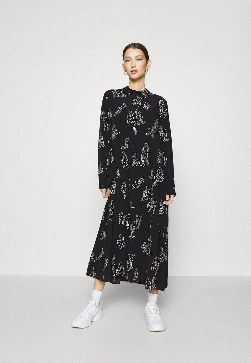 Monki - ADA DRESS - Skjortekjole - black
