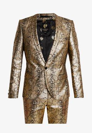 BRAGA SUIT SKINNY FIT - Suit - gold