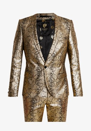 BRAGA SUIT SKINNY FIT - Costume - gold