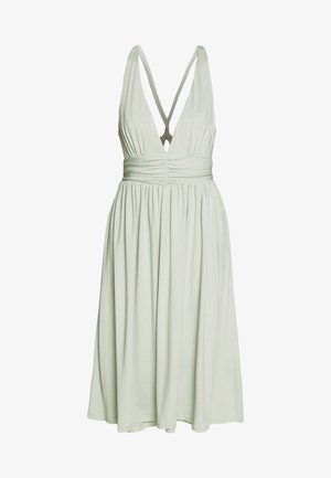 CROSS BACK DRAPY DRESS - Cocktail dress / Party dress - mint