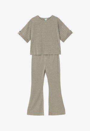 SET - Kalhoty - khaki