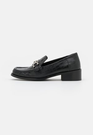 LINCON CHAIN LOAFER - Mocassins - black