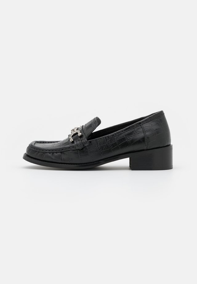 LINCON CHAIN LOAFER - Instappers - black