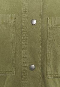 Marks & Spencer London - WAISTED - Denim jacket - khaki - 2
