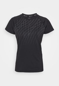 Puma - RUN GRAPHIC TEE - Camiseta estampada - black