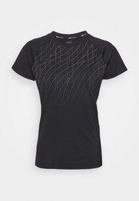 RUN GRAPHIC TEE - Print T-shirt - black