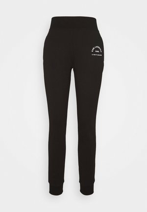 ADDRESS LOGO PANTS - Tracksuit bottoms - black