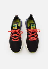 Nike Performance - REACT INFINITY RUN UNISEX - Neutral running shoes - black/bright cactus/sail/rush violet/baltic blue/team orange - 3