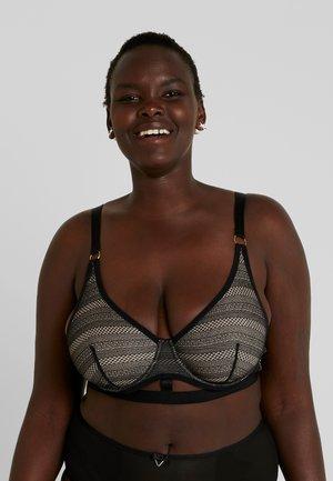 KAT STRIPE BALCONETTE BRA - Underwired bra - black