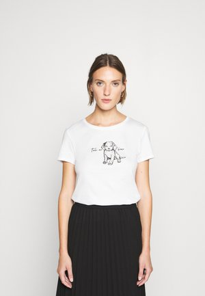 DOG PRINTED TOP - Print T-shirt - white