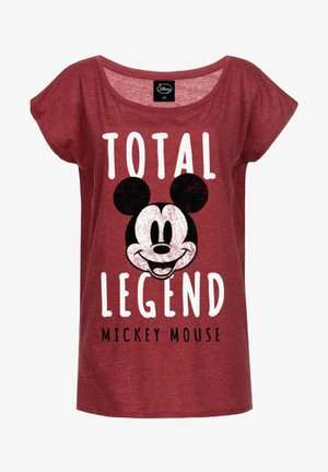 MICKEY & MINNIE MOUSE MICKEY MOUSE TOTAL LEGEND LOOS - Print T-shirt - rot meliert