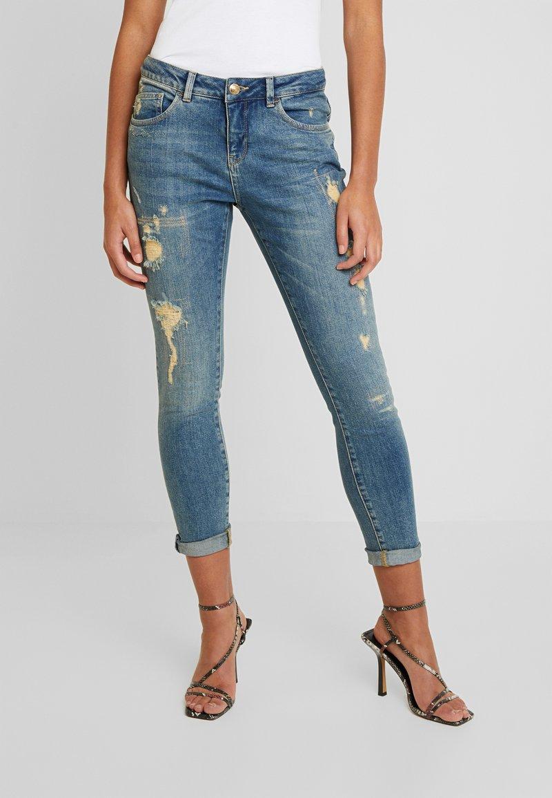Mos Mosh - BRADFORD WORKED - Jeans Skinny Fit - blue denim