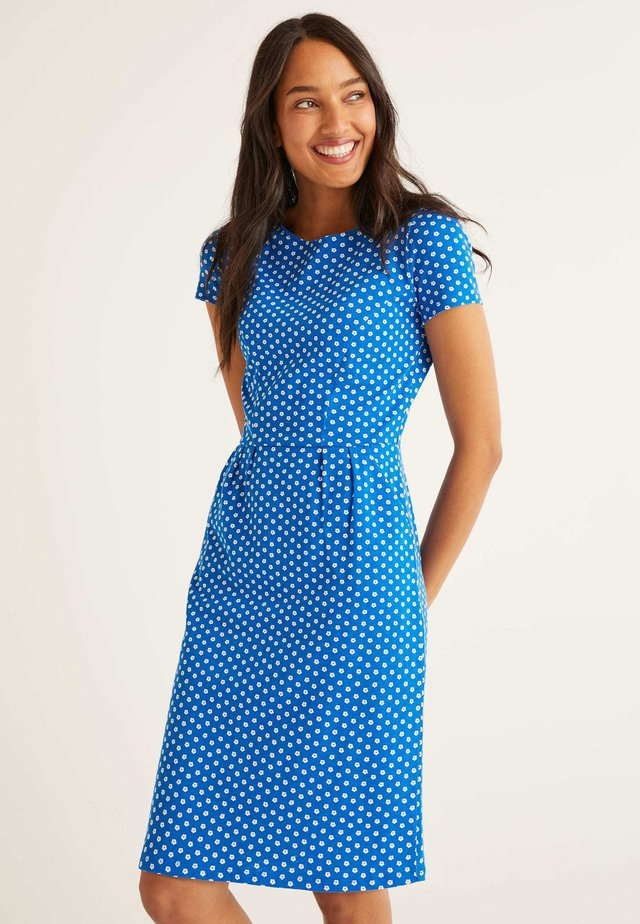 Jersey dress - mottled light blue
