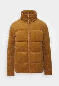Jack & Jones - JORCORDUROY PUFFER - Winter jacket - rubber - 0
