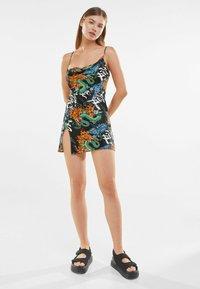Bershka - ASYMMETRIC DRESS 01767619 - Day dress - black - 4