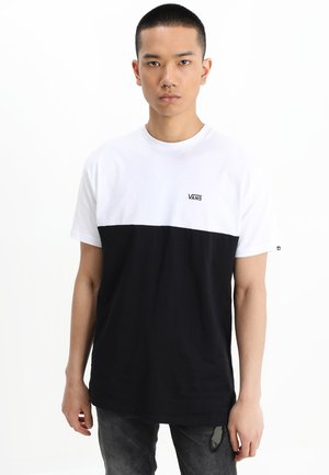 COLORBLOCK TEE - Print T-shirt - white/black
