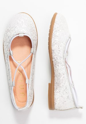 SEIMY - Ankle strap ballet pumps - white glitter