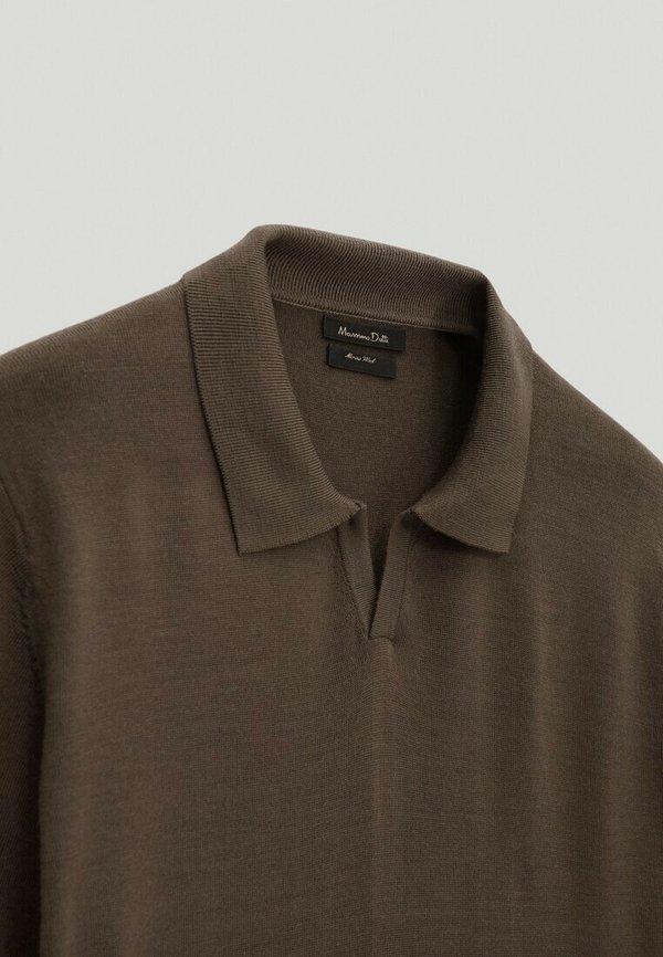 Massimo Dutti Koszulka polo - brown/brązowy Odzież Męska TWGQ