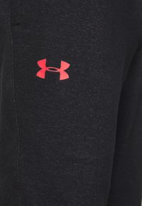 Under Armour - PROJECT ROCK - Teplákové kalhoty - black full heather/versa red - 6
