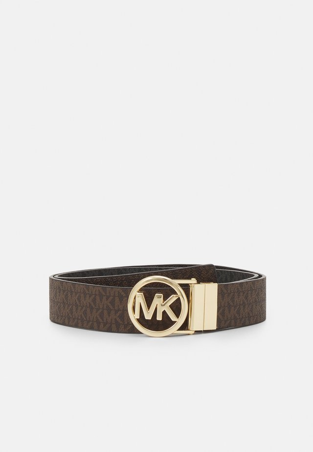 LOGO REVERSIBLE BELT - Cinturón - brown/black/gold-coloured