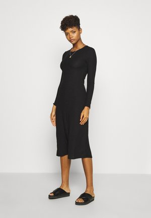 YOLANDA DRESS - Strikket kjole - black