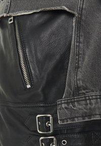 Diesel - L-IVAN JACKET - Leather jacket - black - 3