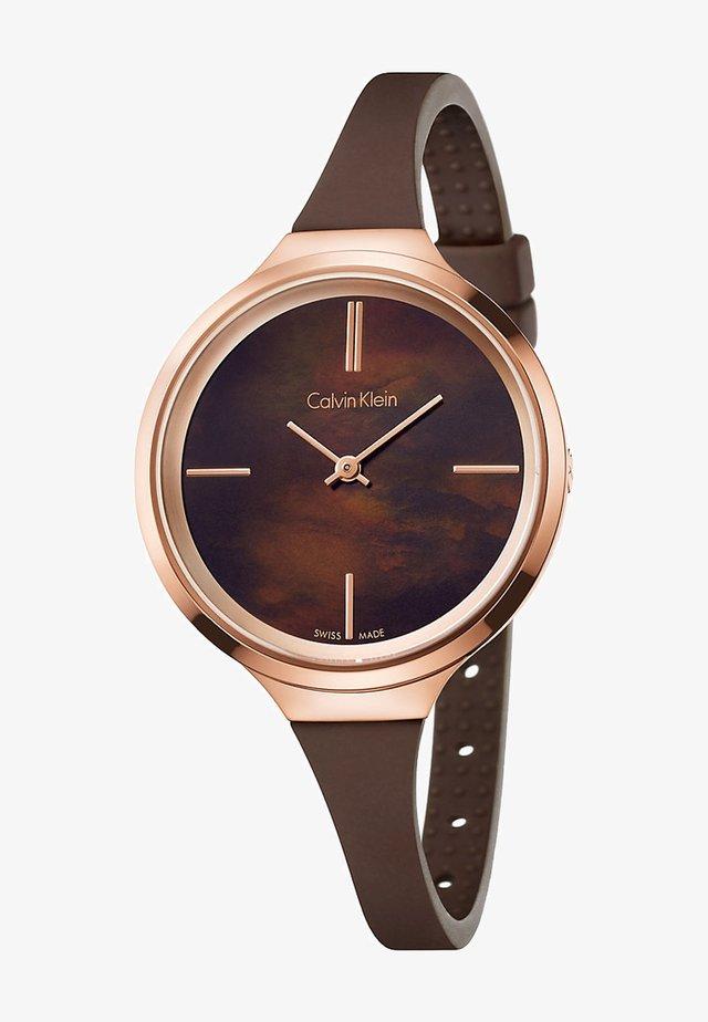 LIVELY - Uhr - brown/rosegold-coloured