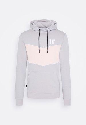 Hoodie - vapour grey / peach blush / white