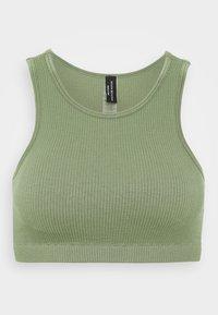 South Beach - SEAMLESS HIGH NECK MUSCLE BACK TANK - Light support sports bra - light green - 0