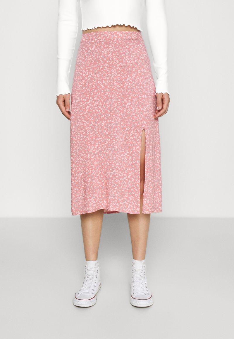 Hollister Co. - SLIP SKIRT - A-line skirt - coral
