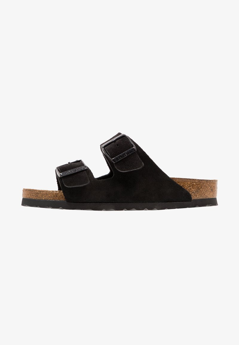 Birkenstock - ARIZONA SOFT FOOTBED NARROW FIT - Klapki - black