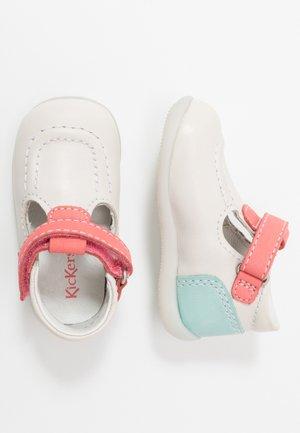 BONBEKRO - Baby shoes - blanc/rose/bleu