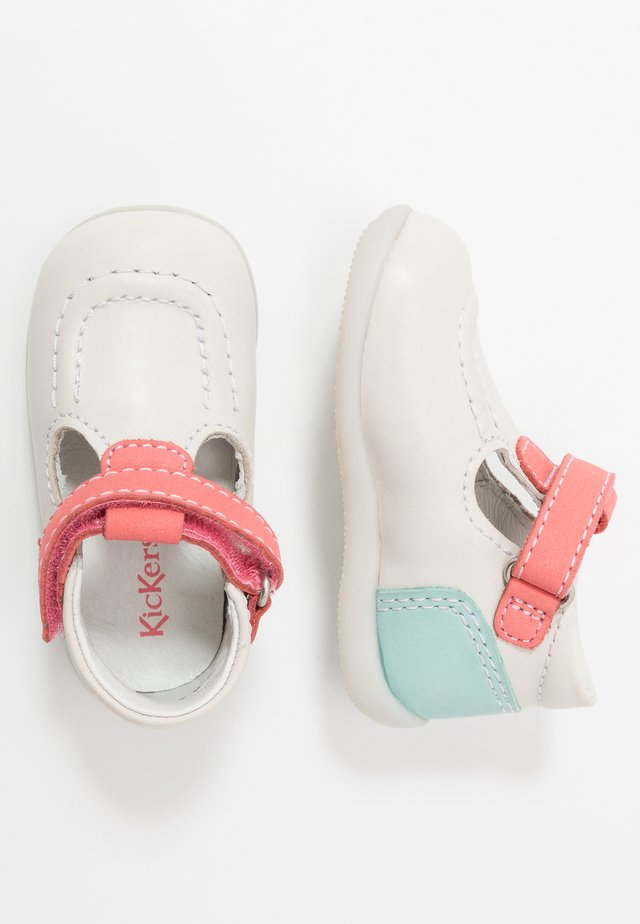 BONBEKRO - Baby shoes - blanc/rose/bleu