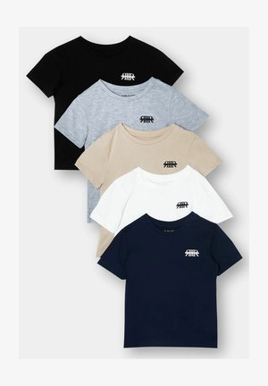 5 PACK - T-shirt print - grey