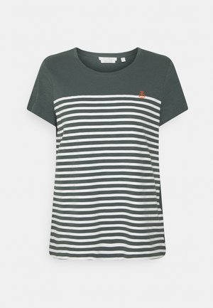 STRIPED TEE - T-shirt imprimé - dusty pine green