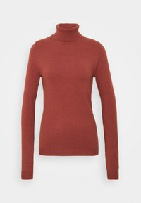 Vero Moda Tall - VMHAPPY BASIC ROLLNECK - Jumper - mahogany - 4