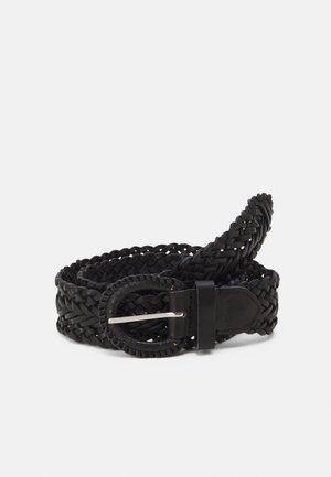 BRAIDED - Braided belt - black