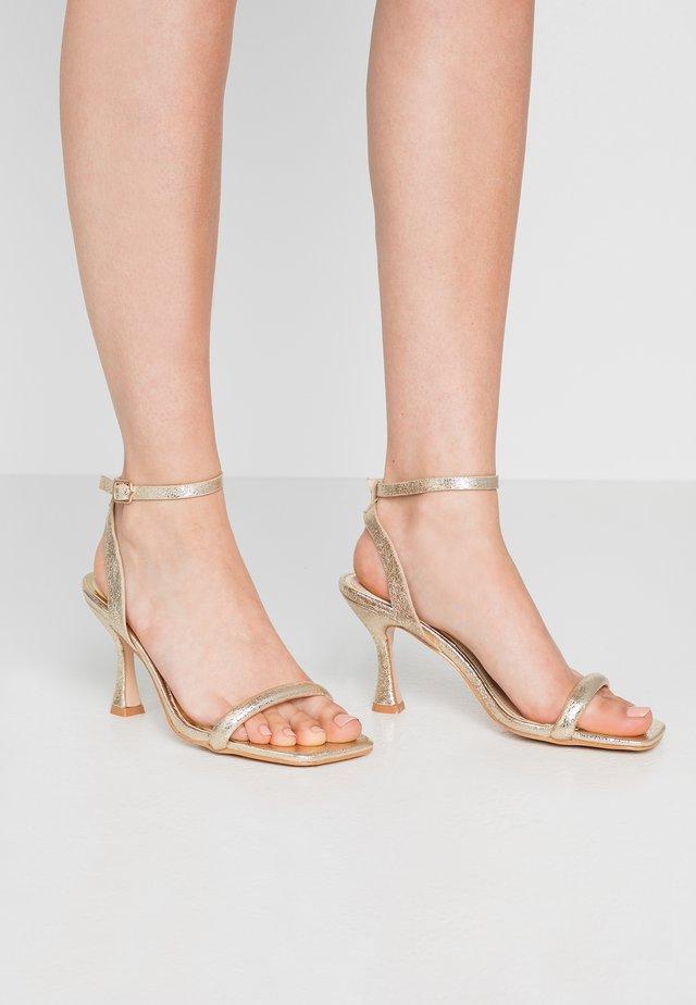 MINKA - High heeled sandals - gold