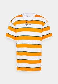 Karl Kani - SMALL SIGNATURE STRIPE TEE UNISEX - Print T-shirt - orange - 6