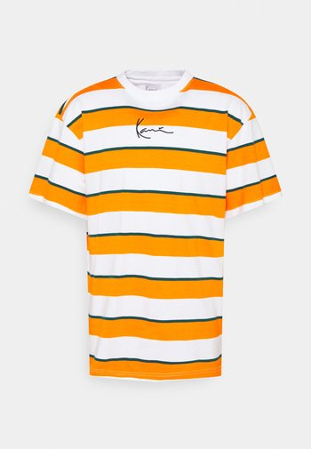 SMALL SIGNATURE STRIPE TEE UNISEX - Printtipaita - orange
