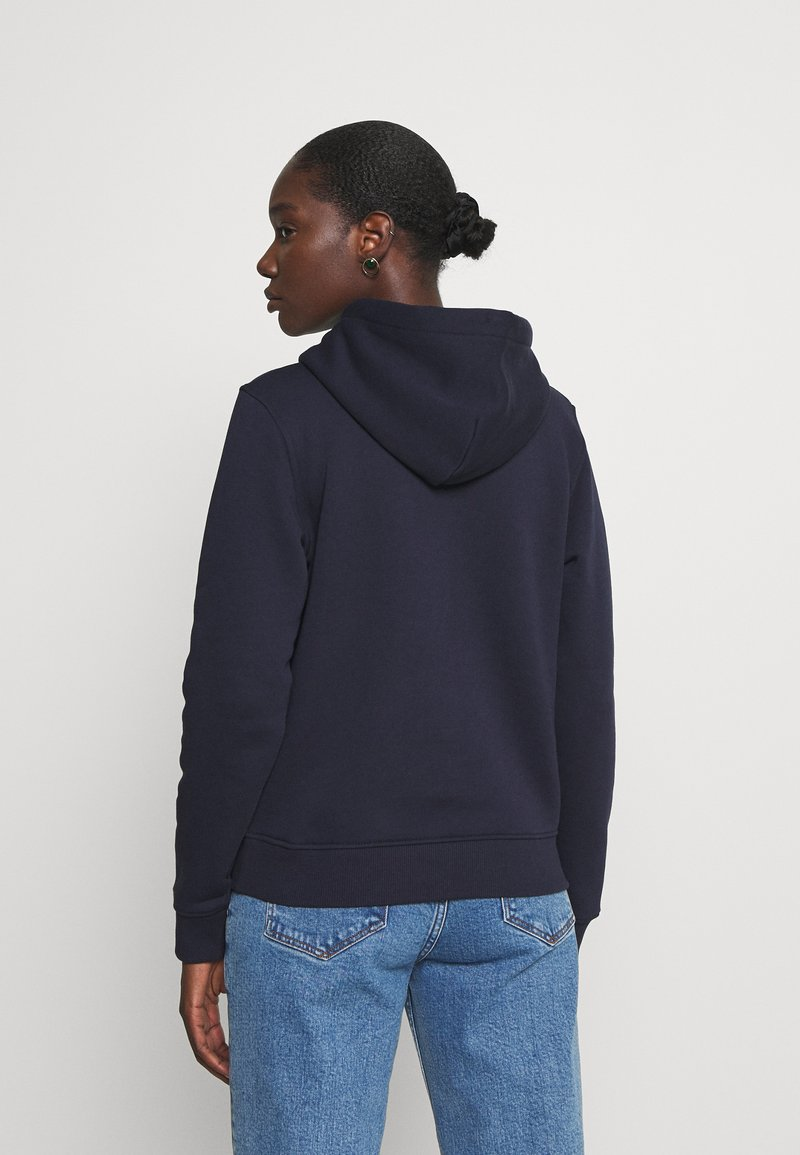 GANT ARCHIVE SHIELD HOODIE - Sweatshirt - evening blue/dunkelblau qalSEh