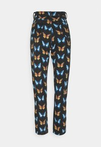 Missguided - RIOT BUTTERFLY PRINT MOM - Relaxed fit jeans - black - 1