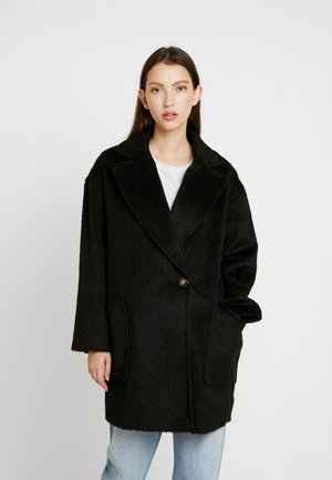 CARLY BRUSHED - Classic coat - black