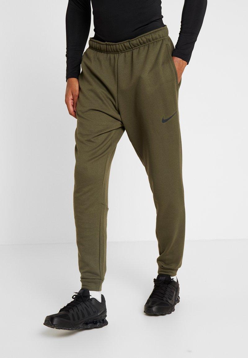 Nike Performance - DRY PANT TAPER - Tracksuit bottoms - cargo khaki/black