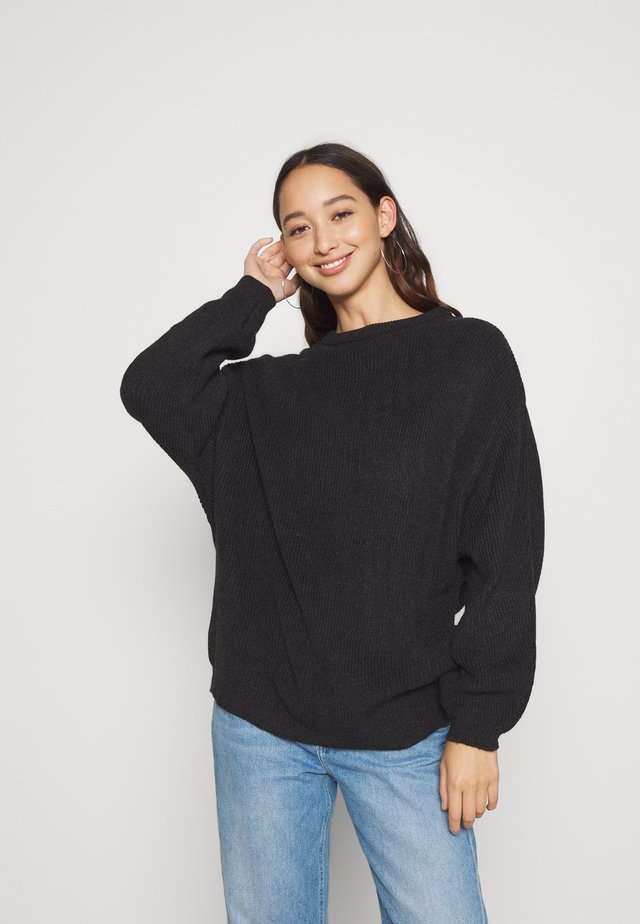 BAT SHAPE OVERSIZED - Jumper - black