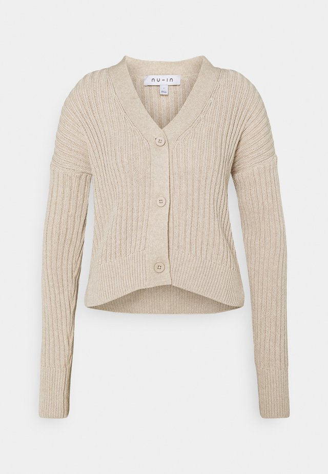 CROPPED CARDIGAN - Cardigan - light beige
